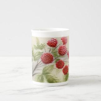Shab-tastic Vintage Raspberries Bone China Mug
