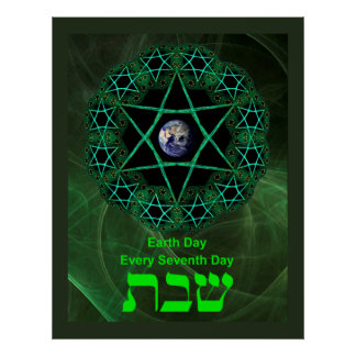 Shabbat - Earth Day Poster