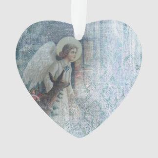 Shabby Angel Acrylic Ornament