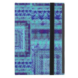 Shabby Blue Fabric Like Squares Pattern Decorative iPad Mini Case