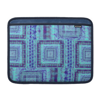 Shabby Blue Fabric Like Squares Pattern Decorative Sleeve For MacBook Air