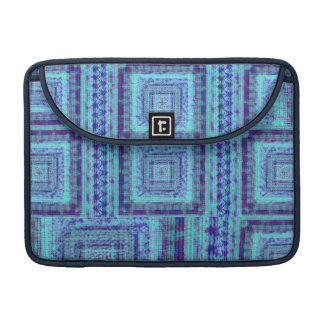 Shabby Blue Fabric Like Squares Pattern Decorative Sleeve For MacBook Pro