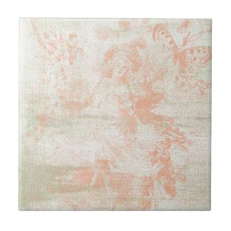 Shabby Blush Small Square Tile