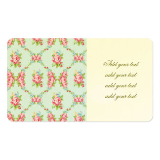 Shabby chic,baby blue,red roses,victorian,floral,p pack of standard business cards