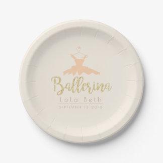 Shabby Chic Ballerina Tutu | Birthday Paper Plate