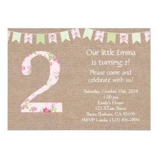 Shabby Chic Birthday Party Invitation Shabby Chic
