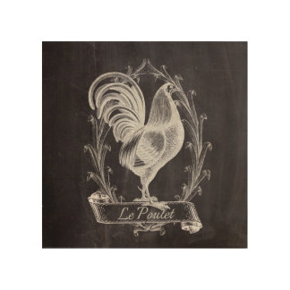 shabby chic blackboard french country rooster wood wall art