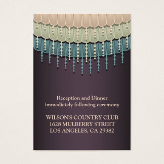Shabby Chic Bohemian  Driving Directions Card