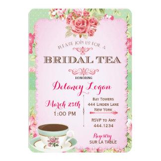 Shabby Chic Bridal Shower Tea Invitation