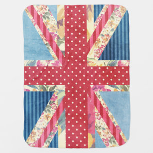 Shabby Chic | British Flag Baby Blanket