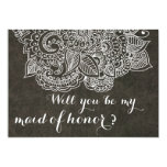 Shabby Chic Brown Vintage Paisley Maid Of Honour