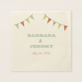 Shabby Chic Bunting Napkins Disposable Serviette