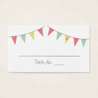 Shabby Chic Bunting Placecards Pink and Mint Business Card