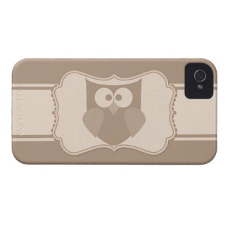Shabby Chic Cartoon Owl Paper Tag iPhone 4s Case Case-Mate iPhone 4 Cases