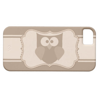 Shabby Chic Cartoon Owl Paper Tag iPhone 5s Case iPhone 5 Cases