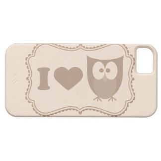 Shabby Chic Cartoon Tag I Love Owls iPhone 5s Case iPhone 5 Cover