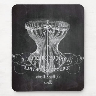 shabby chic chalkboard art girly vintage corset mouse pad