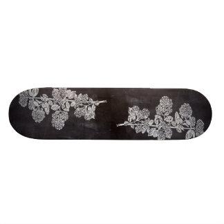 shabby chic chalkboard floral french country custom skateboard