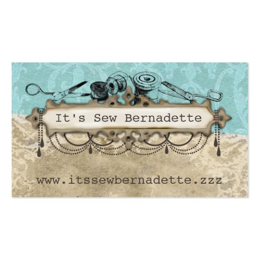 Shabby chic chandelier sewing scissors biz cards business card template