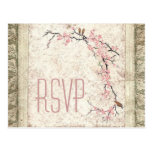 shabby chic cherry Blossom Country wedding rsvp