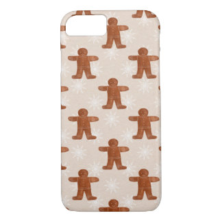 Shabby Chic Christmas Ginger Man Pattern Holiday iPhone 8/7 Case