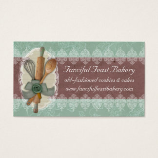 shabby chic cooking baking utensils business card