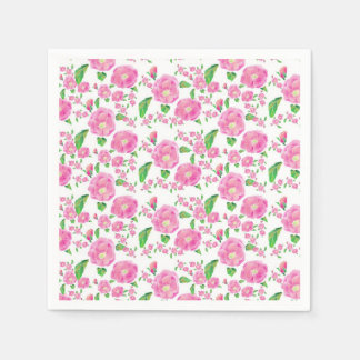 Shabby Chic Ditzy Pink Floral Napkins Paper Napkin