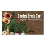 Shabby chic farmers market organic chef biz cards business cards