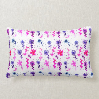 Shabby chic floral lumbar cushion