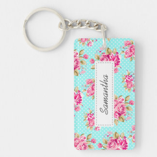 Shabby Chic Floral Roses Keychains