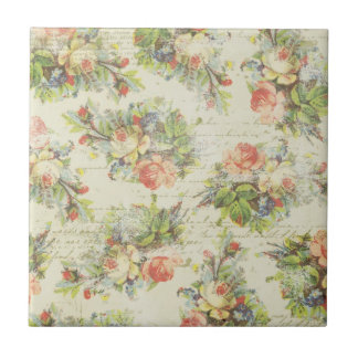 Shabby Chic Floral Tile