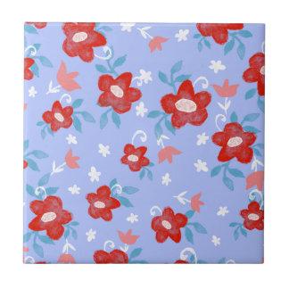 Shabby Chic Floral Ceramic Tile