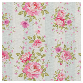 Shabby chic,floral,vintage,pink,blue,creame,trendy fabric