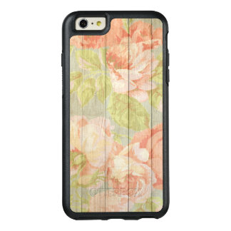 Shabby Chic Floral Wood Grain OtterBox iPhone 6/6s Plus Case