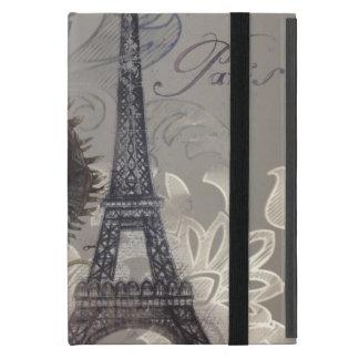 Shabby chic flower swirls paris eiffel tower covers for iPad mini