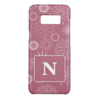 Shabby Chic Galaxy S8 Case Custom Initial