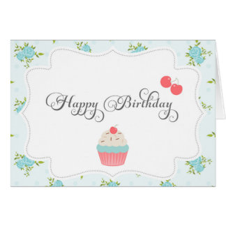 Shabby Chic Happy Birthday Card