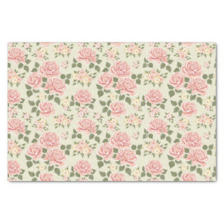shabby chic,jade,pink,trendy,vintage,girly,floral, tissue paper