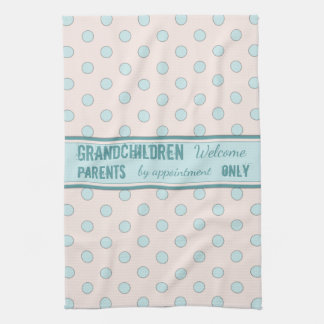 Shabby Chic Kitchen Tea Towel Grandparents