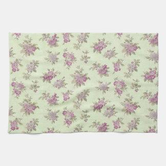 Shabby Chic Lavender Elegant Flower Floral Tea Towel