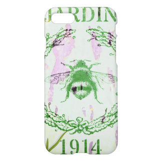 shabby chic lavender vintage bee french country iPhone 7 case