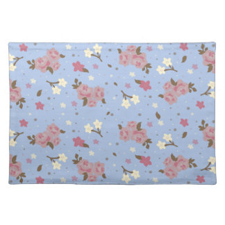 Shabby Chic Pink & Blue Floral Design Placemat