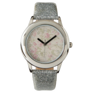 Shabby Chic Pink Elegant Flower Floral Watch