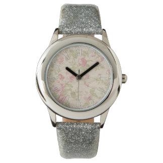 Shabby Chic Pink Elegant Flower Floral Wristwatch