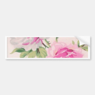 shabby chic pink floral vintage victorian girly bumper sticker