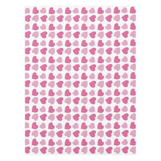 Shabby Chic Pink Hearts Table Cloth