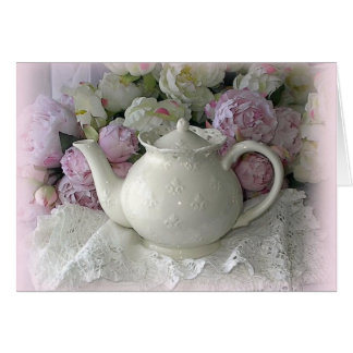Shabby Chic Porcelain Teapot Note Card