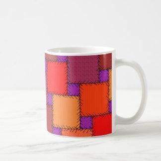 Shabby Chic Purple Patchwork Shades Coffee Mug