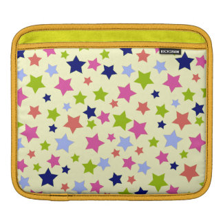 Shabby Chic Retro star pattern on cream Sleeves For iPads