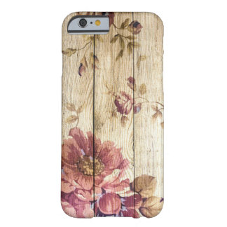 Shabby Chic Romantic Roses on Wooden Wall Barely There iPhone 6 Case